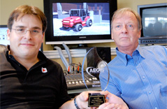 Aegis Award Winner 2008 for Leavitt Machinery TV spot. Shawn and Paul Winterton of Cybereyes Images